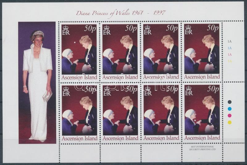 Princess Diana and Mother Theresa minisheet, Diána hercegnő és Teréz anya kisív