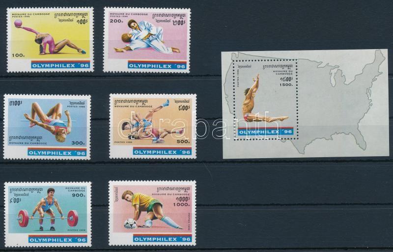 International Stamp Exhibition, OLYMPHILEX '96 set + block, Nemzetközi bélyegkiállítás, OLYMPHILEX '96 sor + blokk