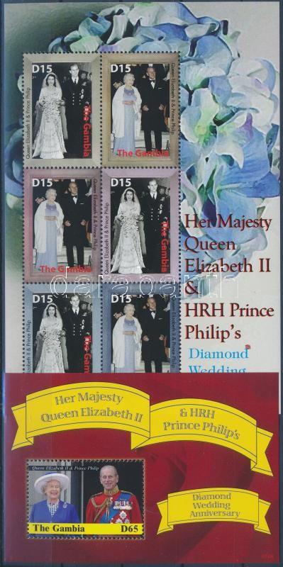 II. Erzsébet királynő gyémántlakodalma kisív + blokk, Queen Elizabeth II. mini sheet + block