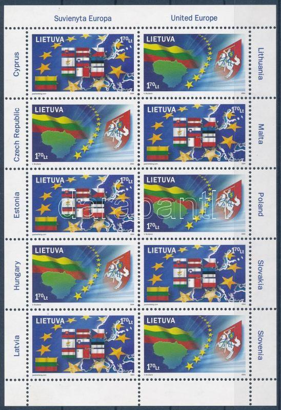 European Union minisheet, Európai Unió kisív