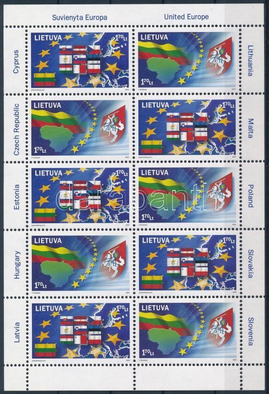 European Union mini sheet, Európai Unió kisív