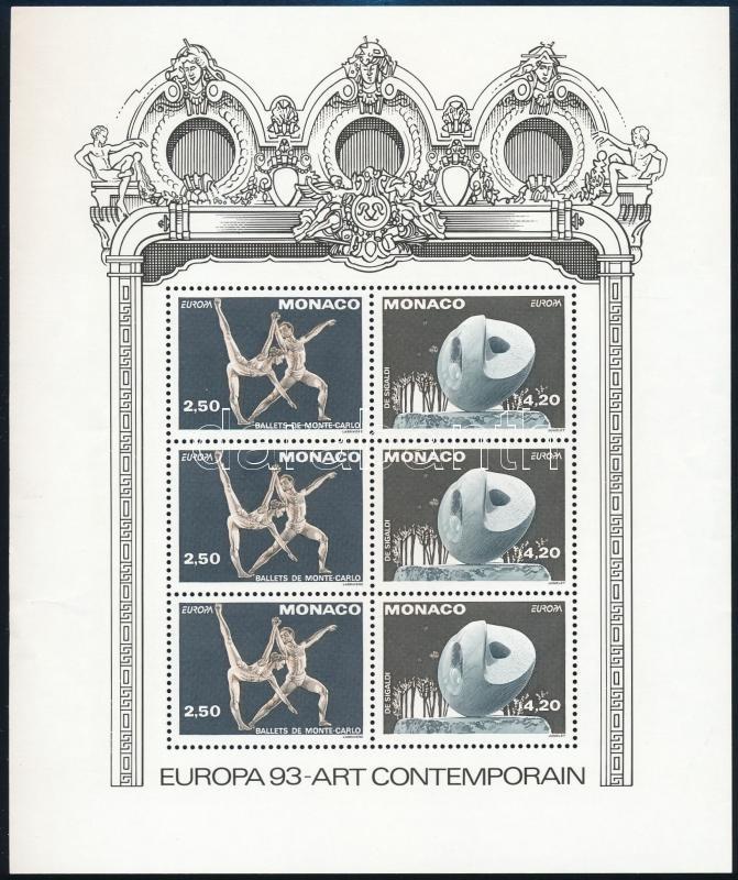 Europa CEPT, contemporary art block, Europa CEPT, kortárs művészet blokk