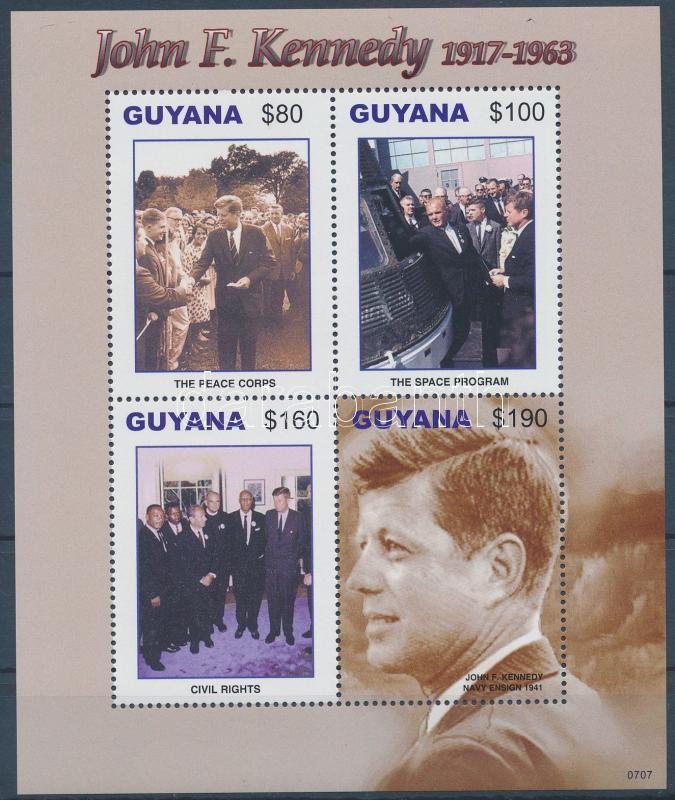 John F. Kennedy's 90th birthday mini sheet, John F. Kennedy 90. születésnapja kisív