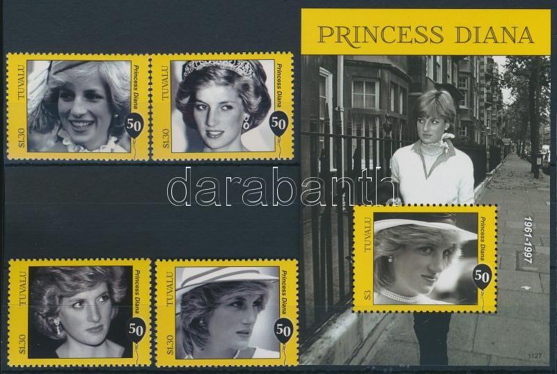 Princess Diana set + block, Diana hercegnő sor  + blokk