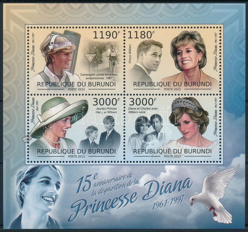 Princess Diana minisheet, Diana hercegnő kisív