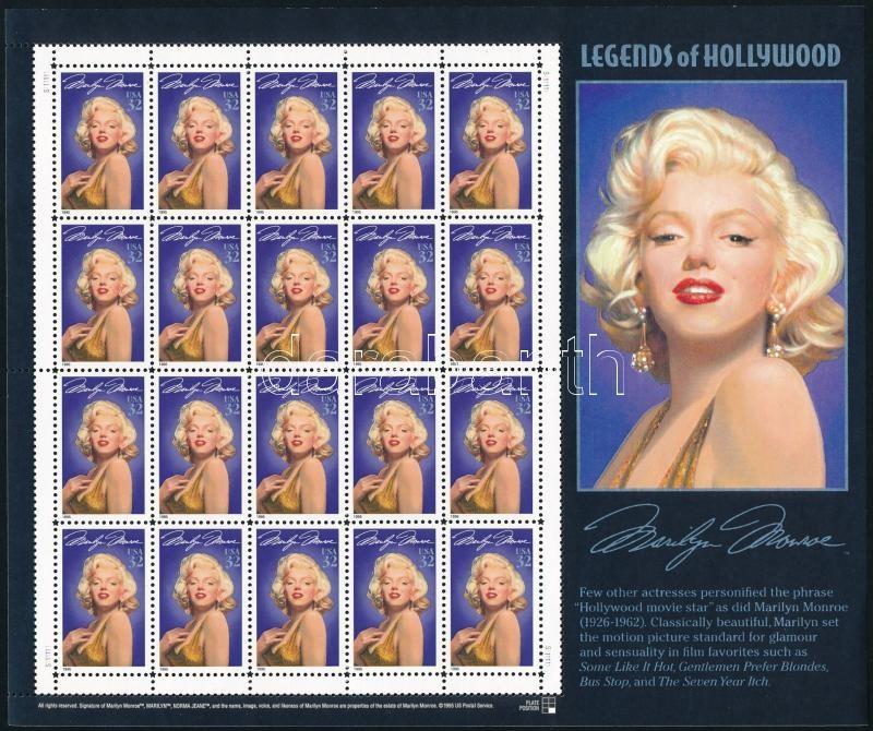 Marilyn Monroe minisheet, Marilyn Monroe kisív