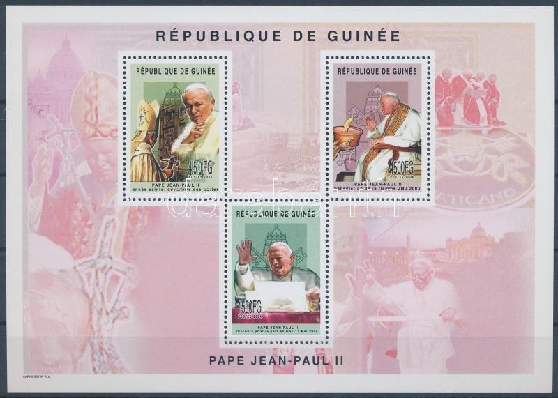 Pope John Paul II. minisheet + blockset, II. János Pál pápa kisív  + blokksor