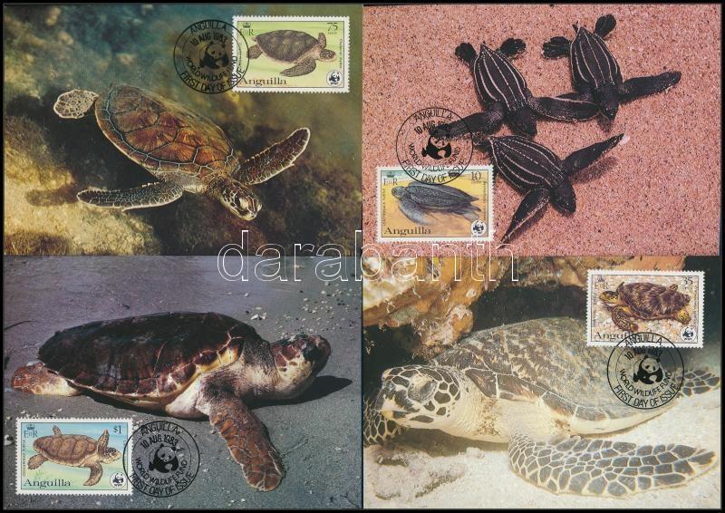 WWF Turtles  set on 4 CM, WWF Teknősök sor 4 db CM-en