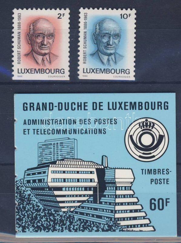 Robert Schumann's 100th birthday set + stamp booklet, 100 éve született Robert Schumann sor + bélyegfüzet, 100. Geburtstag von Robert Schumann Satz + Markenheftchen