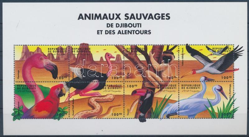 Animals from around the world minisheet, Állatok a világ minden tájáról kisív