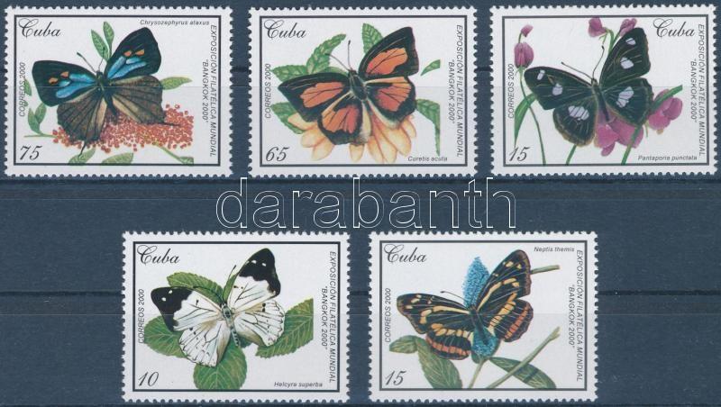Nemzetközi bélyegkiállítás BANGKOK; Lepkék sor, International Stamp exhibition BANGKOK; Butterflies set