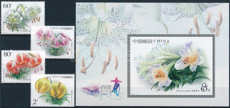 Lilies set + block, Liliomok sor  + blokk