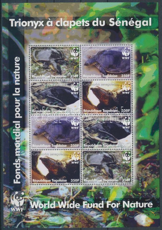 WWF Turtles mini sheet, WWF Teknősök kisív