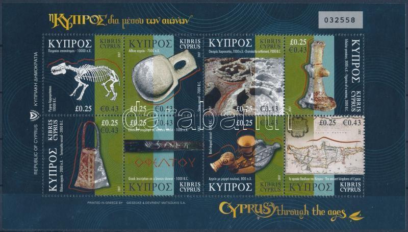 History minisheet, Ciprus különböző korokban kisív