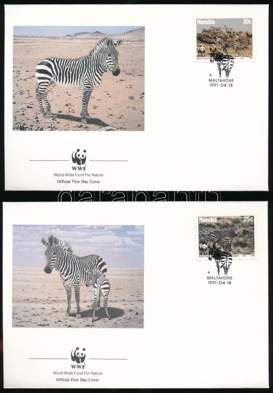 Zebra set on 4 FDC, Zebra sor 4 db FDC-n