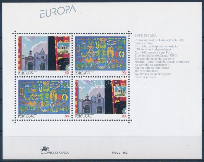 Europa CEPT: contemporary art block, Europa CEPT: kortárs művészet blokk