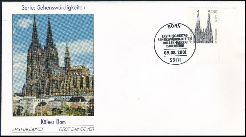 Definitive stamp on FDC, Forgalmi bélyeg FDC-n