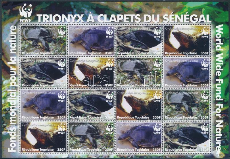 WWF Turtles mini sheet with 4 sets, WWF Teknősök 4 sorozatot tartalmazó kisív