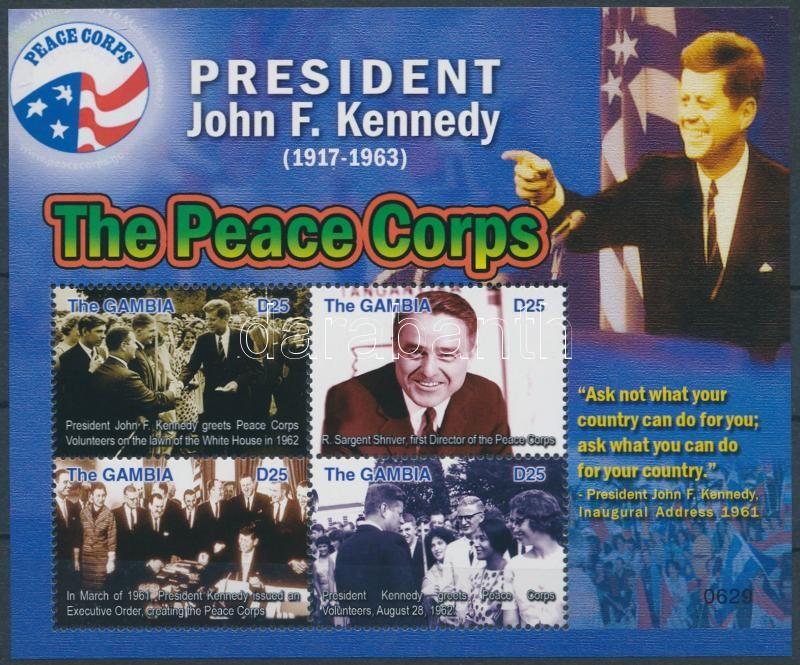 90 éve született John F. Kennedy kisív, John F. Kennedy mini sheet
