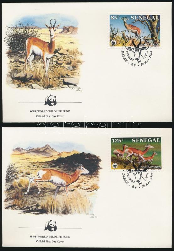 WWF Dama gazelle set 4 FDC, WWF: Gazella sor 4 db FDC-n