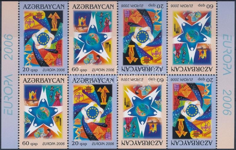 Europe CEPT Integration stamp-booklet sheet, Europa CEPT: Integráció bélyegfüzet ív