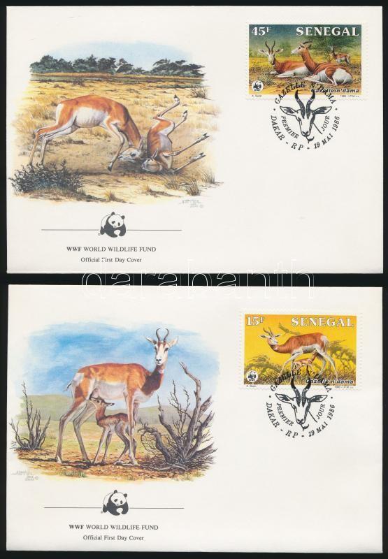 WWF Gazelle set 4 FDC, WWF: Gazella sor 4 db FDC-n