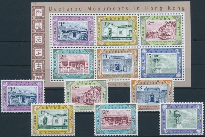 Monuments margin set + block, Műemlékek ívszéli sor + blokk