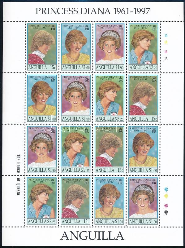 Princess Diana sheet, Diana hercegnő teljes ív