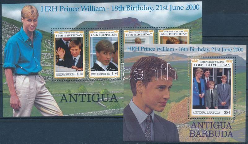 Prince William mini sheet + block, Vilmos herceg kisív + blokk