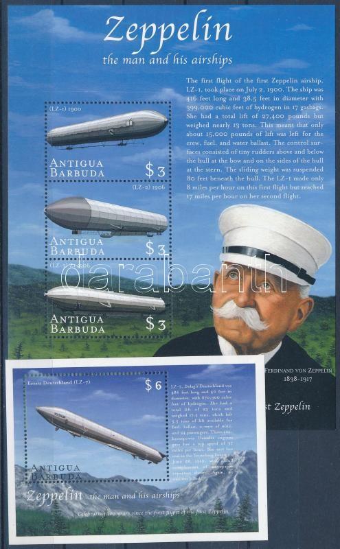 Zeppelin minisheet + blockset, Zeppelin kisív  + blokksor