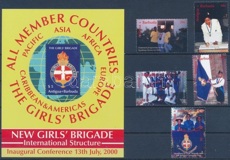 The girls' brigade set + block, Női brigád sor+ blokk