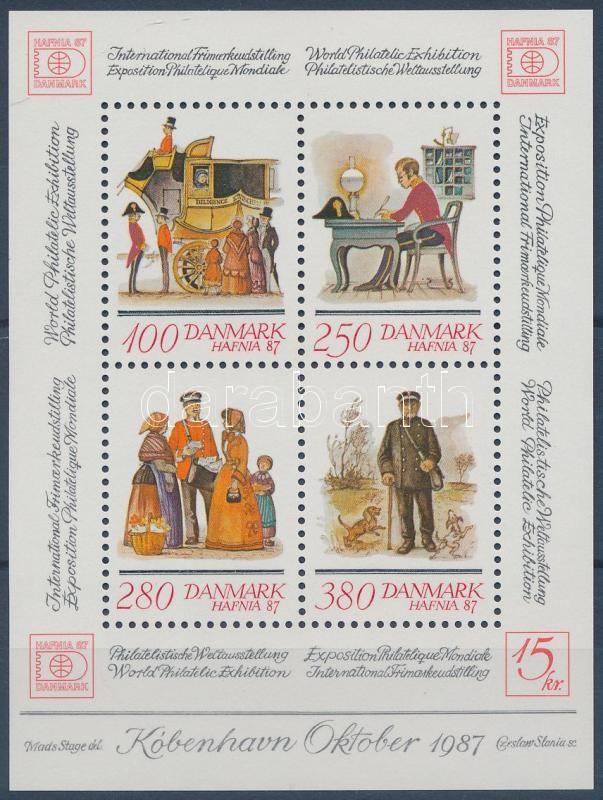 HAFNIA International Stamp Exhibition block, HAFNIA Nemzetközi Bélyegkiállítás blokk