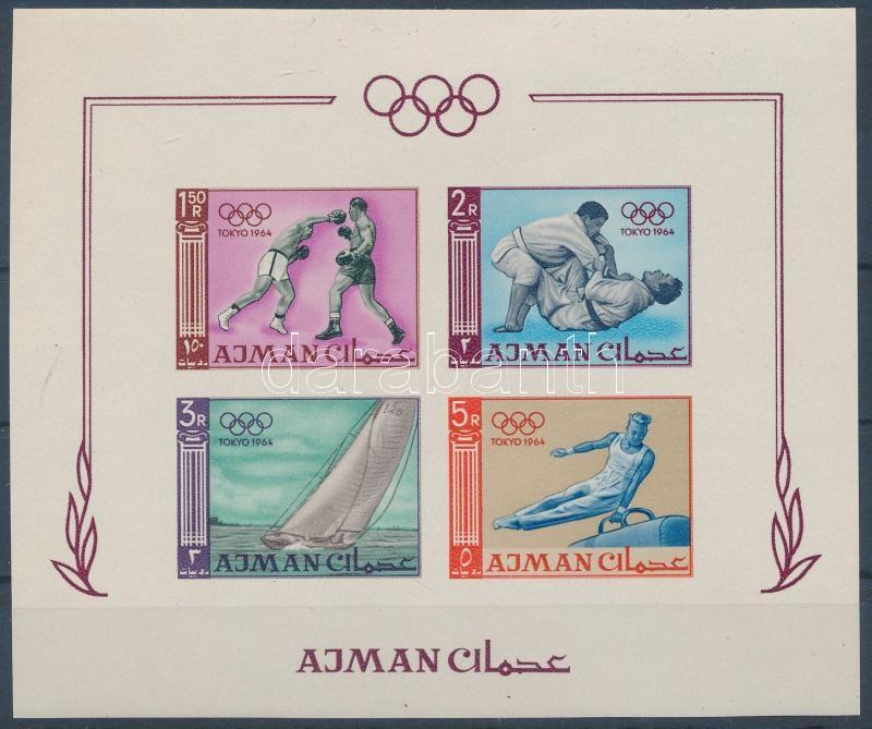 Summer olimpics, Tokyo block, ;Ajman; Nyári Olimpia Tokió vágott blokk