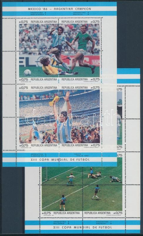 Football World Cup, Mexico mini sheet set, Labdarúgó VB, Mexikó kisívsor