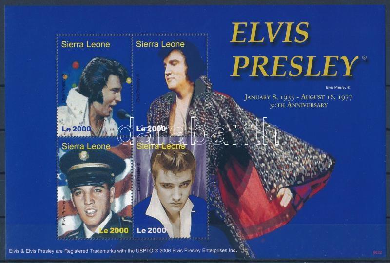 Elvis Presley minisheet, Elvis Presley kisív