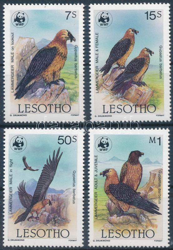 WWF: Bearded vulture set + 4 FDC, WWF: Szakállas saskeselyű sor + 4 FDC