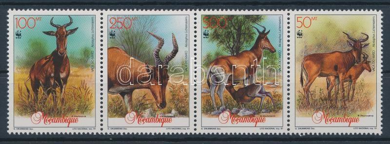 WWF: Antelope stripe of 4, WWF: Antilop négyescsík