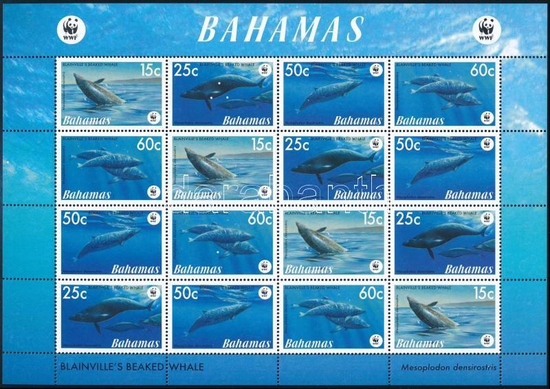 WWF Whales mini sheet, WWF: Bálnák kisív