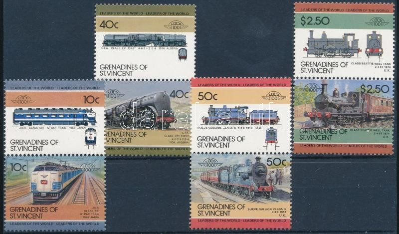 1984-1985 Locomotives 2 sets, 1984-1985 Gőzmozdonyok 2 db sor