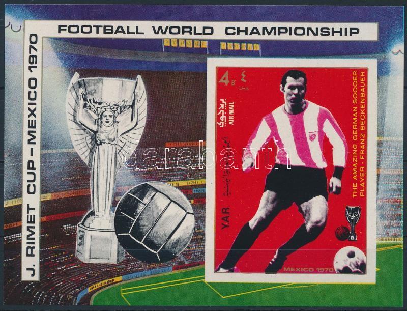 Football World Cup imperforate block, Futball világbajnokság vágott blokk
