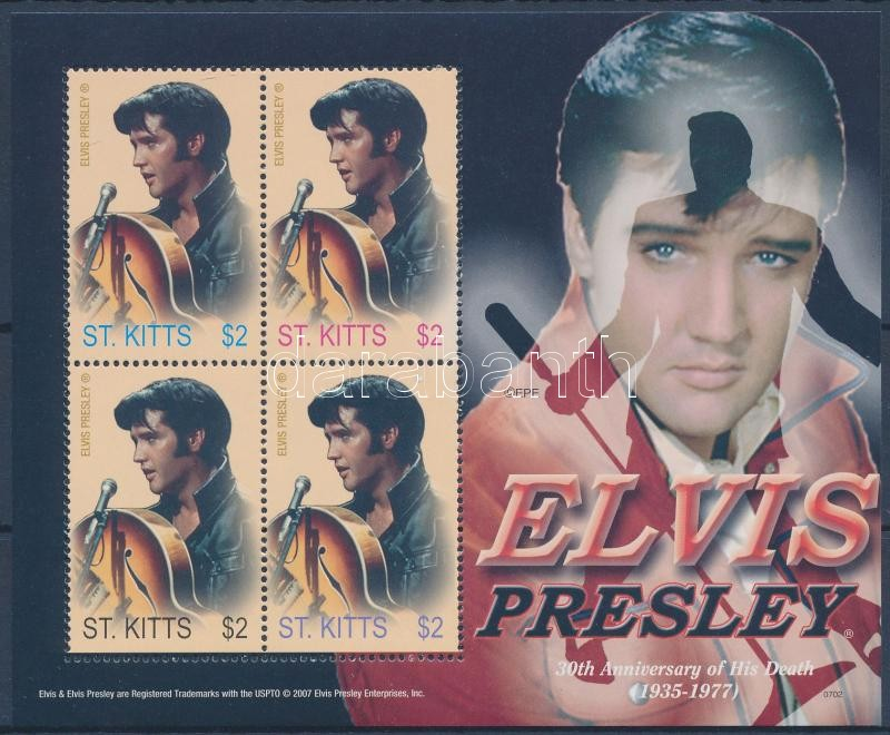 Elvis Presley mini sheet, Elvis Presley kisív