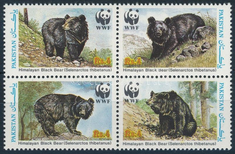 WWF: Bears block of 4, WWF: Medvék négyestömb