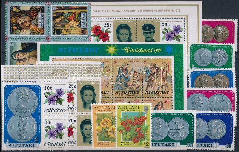 1973-1994 2 blocks + 2 sets + 2 stamps + block of 4, 1973-1994 2 klf blokk + 2 klf sor + 2 klf önálló érték + 1 négyestömb