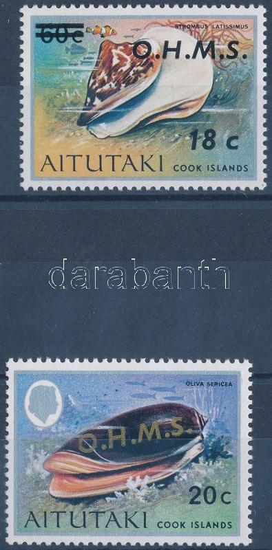 2 values of official stamp set, Hivatalos bélyegsor 2 értéke