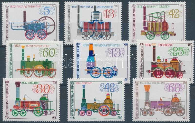 1983-1984 Railways 2 sets, 1983-1984 Vasút 2 klf sor