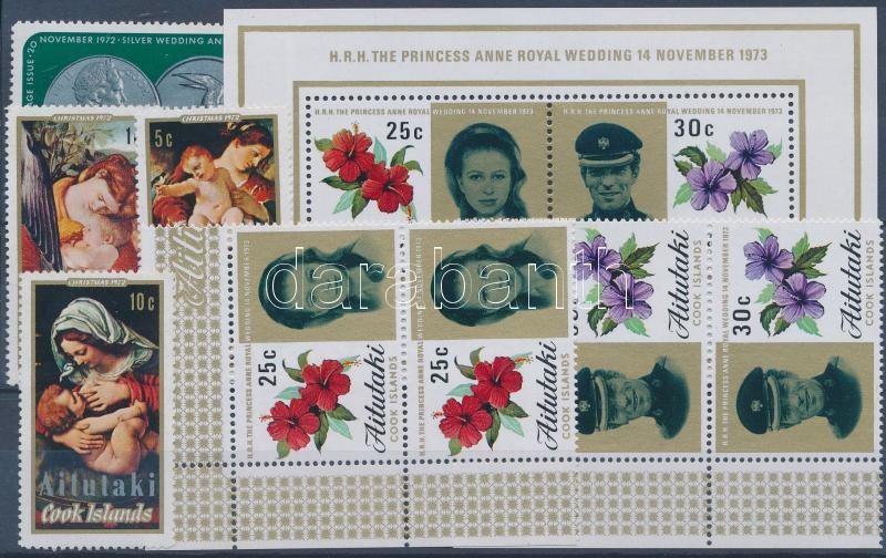 1972-1973 2 klf sor + 1 önálló érték + 1 blokk, 1972-1973 2 sets + 1 stamp + 1 block