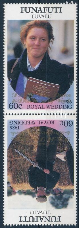 Royal Wedding pair with golden overprint, Királyi esküvő pár arany felülnyomással