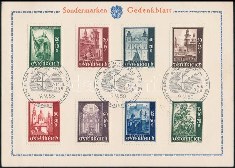 Emléklapon az 1958-as Bécsi vásár alkalmi bélyegzéssel, Viennese fair of 1958  memorial sheet