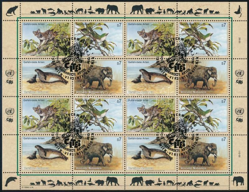 Endangered animals (II) minisheet, Veszélyeztetett állatok (II). kisív