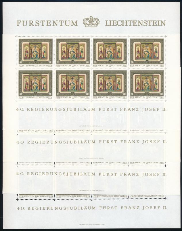 Franz Joseph II. anniversary mini sheet set, II. Ferenc József jubileuma kisívsor